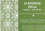 Le Boudoir Philia - Salon de thé et boutique.